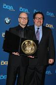 LOS ANGELES - JAN 25:  Steven Soderbergh, Jon Favreau at the 66th Annual Directors Guild of America