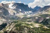 picture of beartooth  - View of the Bears Tooth from the Beartooth Highway - JPG