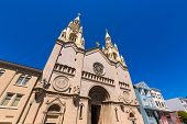 foto of filbert  - San Francisco Saints Peter and Paul Church at Washington Square in Filbert St California USA - JPG