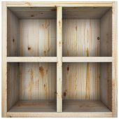 picture of partition  - Empty wooden box with a partition - JPG