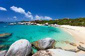 foto of virgin  - Stunning beach with white sand - JPG