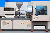 picture of thermoplastics  - Injection molding machine for thermo plastic polymers - JPG