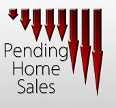 stock photo of macroeconomics  - Graph illustration showing Pending Home Sales decline - JPG