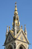 stock photo of kensington  - Top of albert memorial hyde park kensington london - JPG