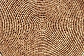 picture of tan lines  - Closeup of twisted pandanus leaves woven into a spiral - JPG