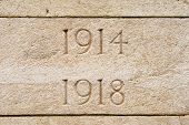 picture of tyne  - World war on 1914 1918 cemetery in flanders Belgium - JPG
