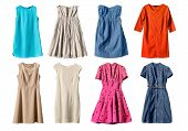 picture of mini dress  - Set of dresses isolated on white background - JPG