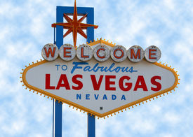 picture of las vegas casino  - Las Vegas Strip Sign with Cloud Background - JPG