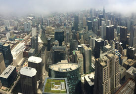image of willy  - A panorama of Chicago from 103 floors high at the Willis Tower Sky Deck - JPG
