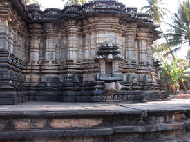 stock photo of belur  - The architecture of the beautiful ancient temple at Belur in India - JPG