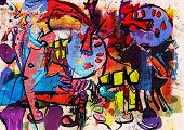 foto of messy  - abstract painting - JPG