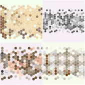 picture of hexagon pattern  - Geometric backgrounds set - JPG