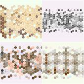 image of hexagon  - Geometric backgrounds set - JPG