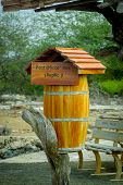 Post office box in galapagos islands pic.