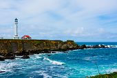 foto of mendocino  - Point Arena Lighthouse in California  - JPG