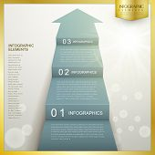 stock photo of staircases  - business arrow step staircase infographic template design - JPG