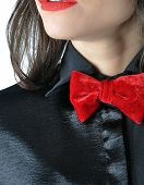 pic of bow tie hair  - Fragment dress for a party - JPG