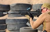 image of kalashnikov  - the firing of weapons the Kalashnikov large caliber