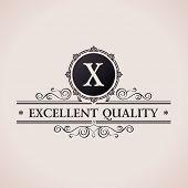 stock photo of monogram  - Luxury logo - JPG