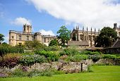foto of church-of-england  - View of Christ Church college and Cathedral seen from the memorial gardens Oxford Oxfordshire England UK Western Europe - JPG