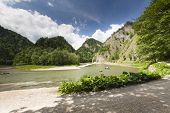 picture of pieniny  - Dunajec River in Pieniny Mountains at the Polish - JPG