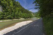 stock photo of pieniny  - Dunajec River in Pieniny Mountains at the Polish - JPG