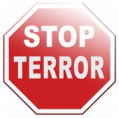 stock photo of terrorism  - stop the terror stop violence terrorism and war - JPG