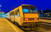 image of gare  - Regional express train at Mulhouse station  - JPG