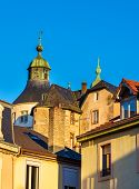 stock photo of chateau  - Chateau de Montbeliard as seen from the city  - JPG