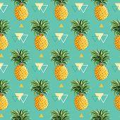 foto of geometric  - Geometric Pineapple Background  - JPG