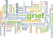 picture of grief  - Background text pattern concept wordcloud illustration of grief sadness - JPG