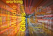 image of middle class  - Background text pattern concept wordcloud illustration of middle class glowing light - JPG