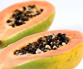 stock photo of pawpaw  - Papaya on white background  - JPG