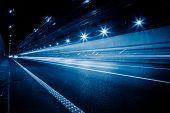 pic of high-speed  - speeding car through the tunnel - JPG