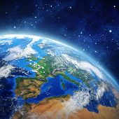picture of outer  - High definition picture of planet earth in outer space - JPG
