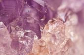 pic of quartz  - Amethyst is violet variety of quartz often used in jewelry It has the chemical formula silicon dioxide SiO2 Macro. ** Note: Shallow depth of field - JPG