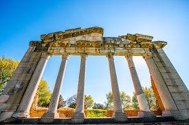 stock photo of albania  - Temple ruins in Ancient Apollonia in Albania - JPG
