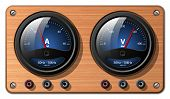 Ammeter And Voltmeter, Vector poster
