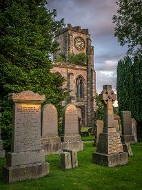 picture of headstones  - Lennoxtown - JPG