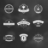 Retro Vintage Insignias or Logotypes set poster