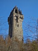 stock photo of braveheart  - william wallace monument in sterling scotland uk - JPG