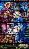 image of stained glass  - stained glass window in 19th century  - JPG