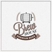 Retro Vintage Beer Logotype Design Element. Vector Illustration poster