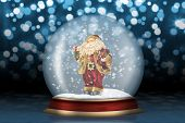 Glass Sphere With Santa Claus