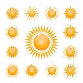 Vector Symbol Of Sun poster