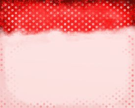 pic of scrappy  - A digitally painted red scrappy note paper background design with polka dots - JPG