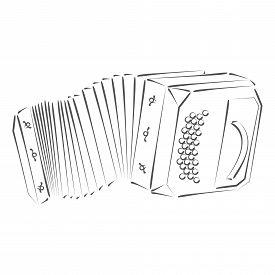 pic of logo  - Sketched bandoneon concertina - JPG