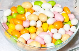 picture of christening  - Many colored candies for christening party  - JPG