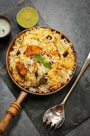 picture of raita  - Fish Biryani with raita made with basmati rice - JPG
