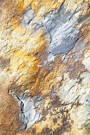 stock photo of gneiss  - rocks stone and red orange gneiss in the wall of morocco - JPG